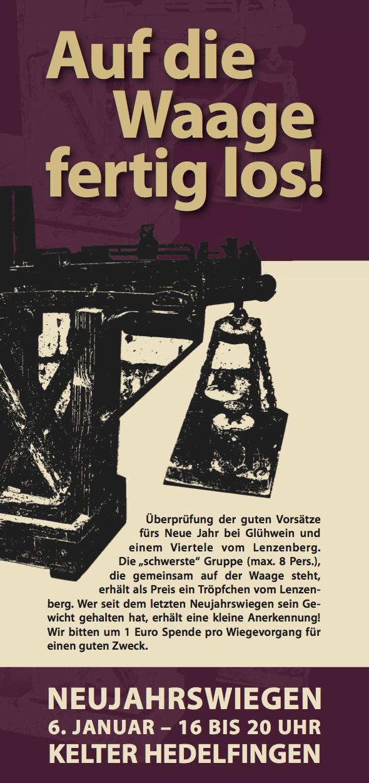 Hedelfingen – Neujahrswiegen am 6.1.2020