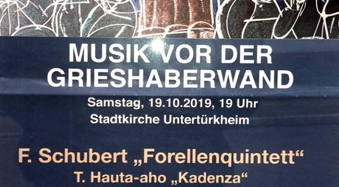 Musik vor der Grieshaberwand Sa 19.10.2019