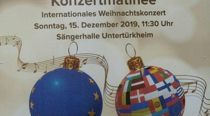 15.12.2019 – Konzertmatinee – Internationales Weihnachtskonzert in de Sängerhalle