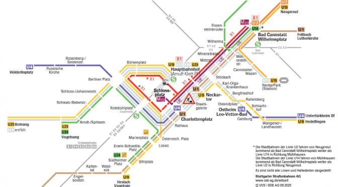 7.9.-11.9.2020 -Stadtbahnen U4+U9-Streckenunterbrechung
