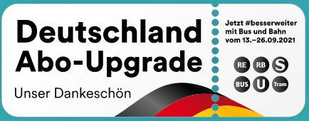 Ab 13.9.2021: zwei Wochen bundesweit das Nahverkehrs-angebot kostenlos nutzen.